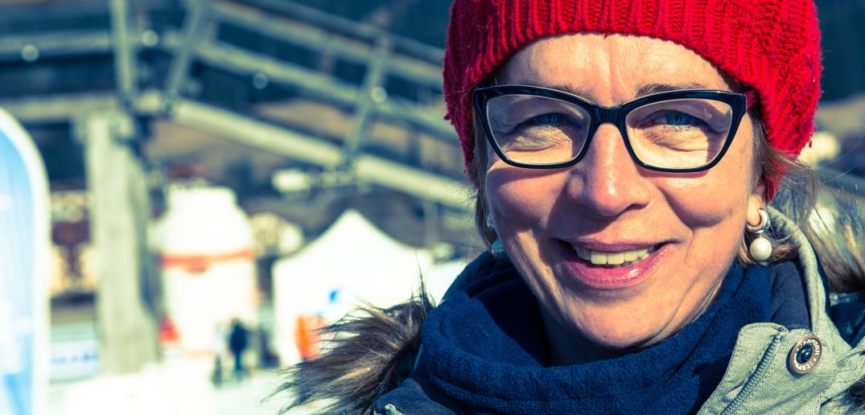 Die sichtlich zufriedene Österreichische Eisschnellauf Olympiasiegerin Emese HUNYADY gab uns vor und während des Volkslaufes wichtige TIPPS. DANKE DAFÜR EMESE !
