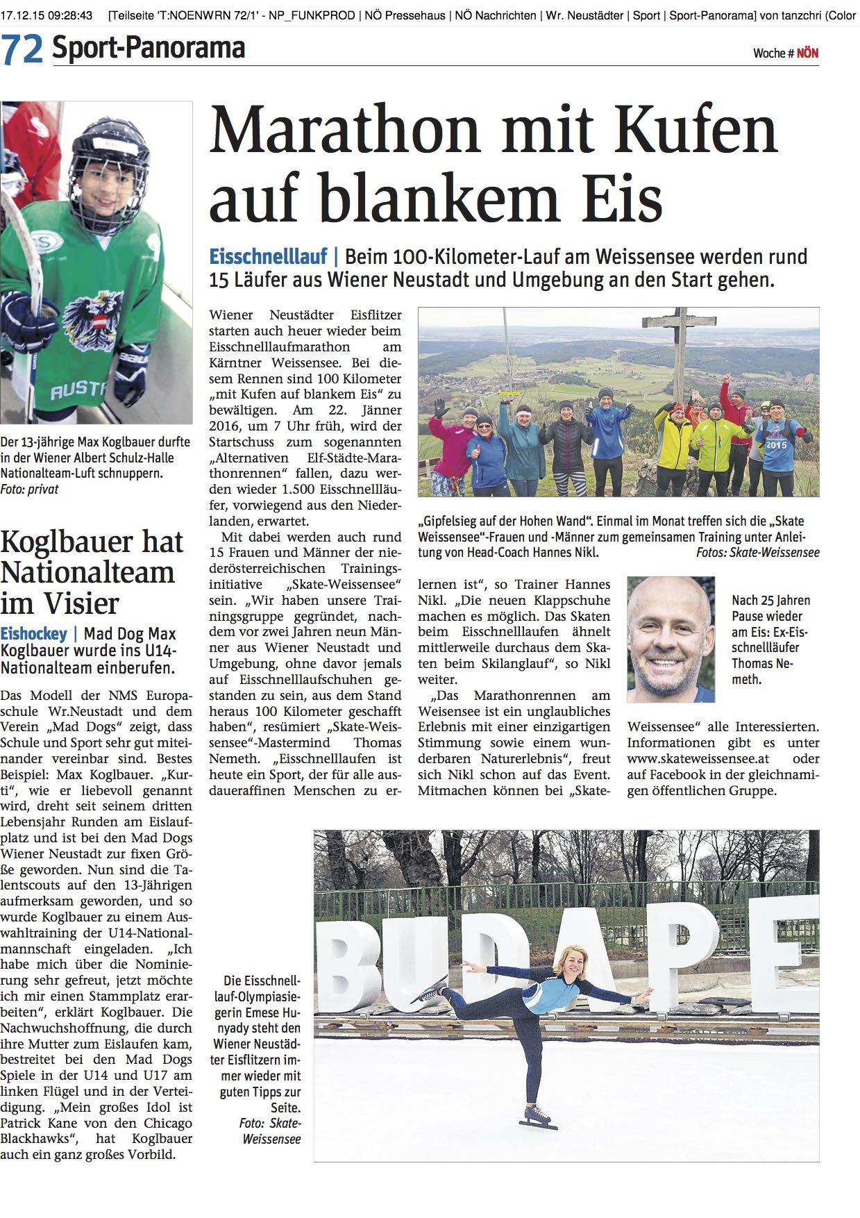 NÖ Nachrichten Wr. Neustadt, Dezember 2015